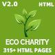 ecoCharity - Nonprofit Environment HTML5 Template