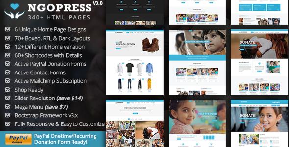 NGOPress - Nonprofit, Crowdfunding & Charity HTML5 Template