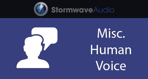 Misc Human Voice