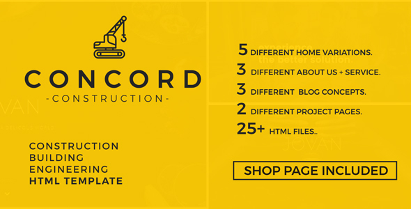 Concord - Construction and Building Website Template