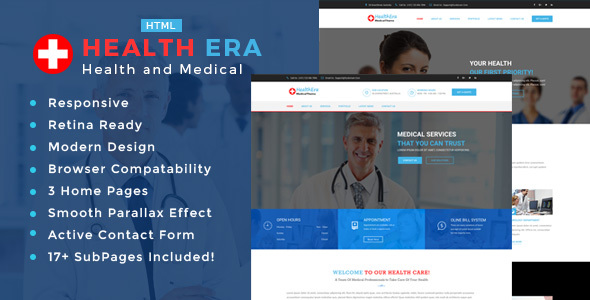 Health Era - Health And Medical HTML Template
