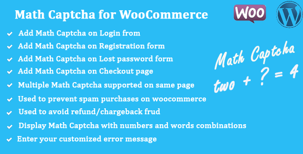 Math Captcha for WooCommerce - WPMeta