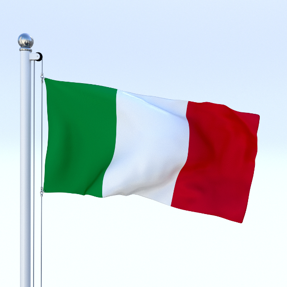 Animated Italy Flag - 3DOcean Item for Sale