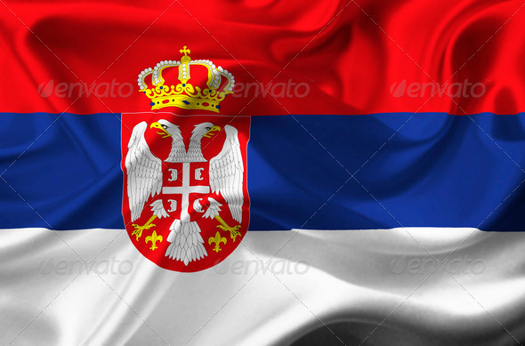 Serbia waving flag - Stock Photo - Images