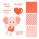 Baby Elephant Design Set