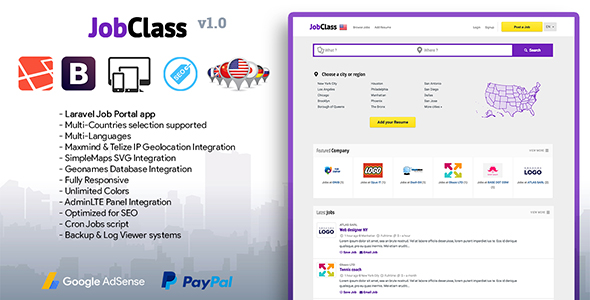 JobClass – Geolocalized Job Portal Script (Miscellaneous)