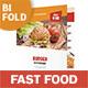 Fast Food Restaurant Bifold / Halffold Menu