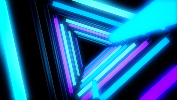 VideoHive Glow Neon Blue Lights Tunnel 18781135