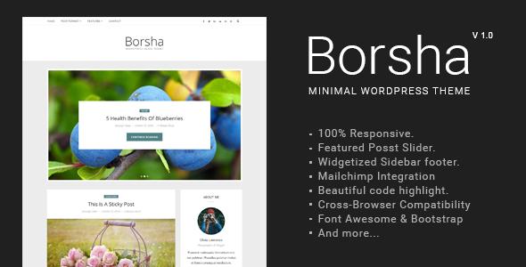 Borsha - Responsive Minimal Blog Theme