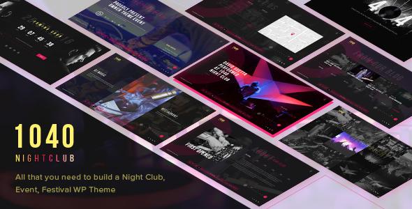 1040 Evening Club – DJ, Celebration, Music Club WordPress Theme (Nightlife)