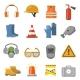 Safety Work Flat Icons Set