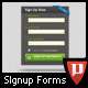 Large Signup and Login Form - GraphicRiver Item for Sale