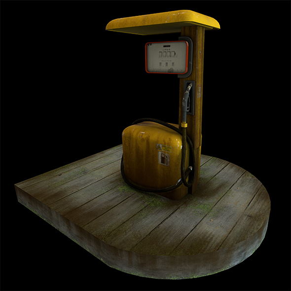 Gas Station Pump Low Poly Game Ready - 3DOcean Item for Sale