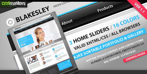 Blakesley - HTML Business & Portfolio template