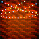 Christmas Background with Colorful Lights on Brick Wall