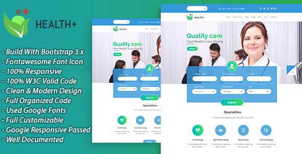 HealthPlus - Health & Beauty Clinic Business Template