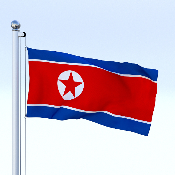 Animated North Korea Flag - 3DOcean Item for Sale