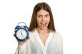 Beautiful woman with clock