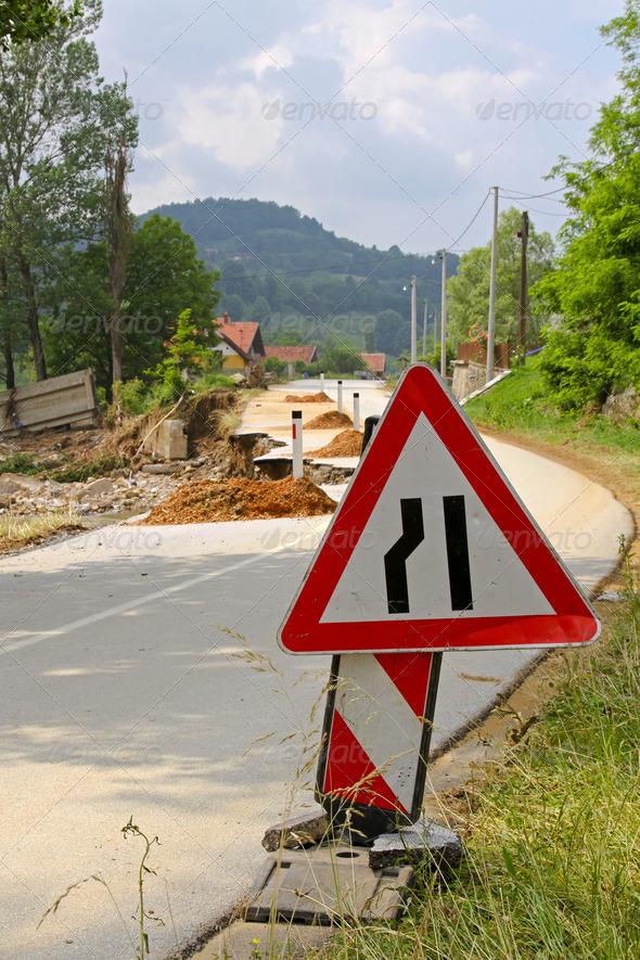 Road damage - Stock Photo - Images