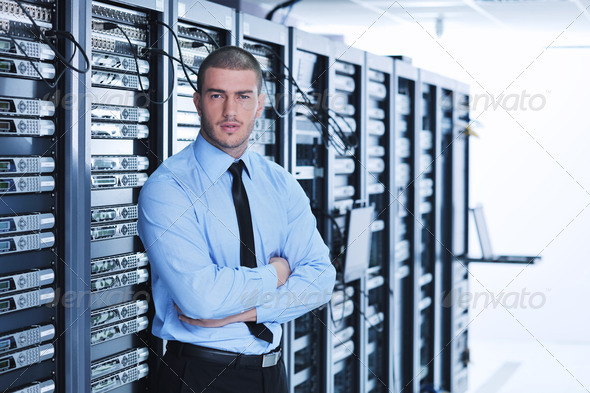 Stock Photo - PhotoDune young it engineer in datacenter server room 1848734