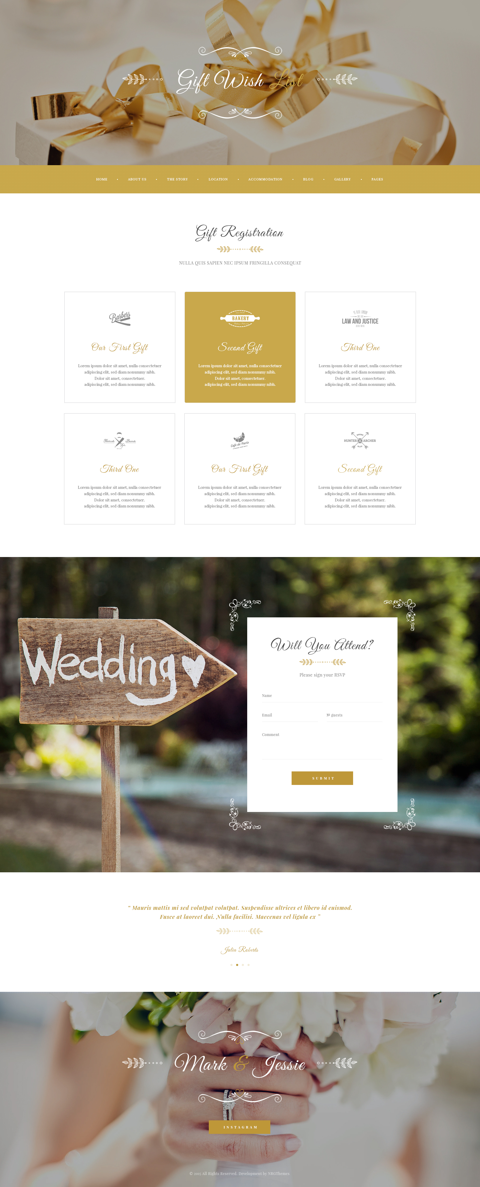 Wedding Wish List Template : PSD Template for Wedding Events, Organizer, Photo Sessions by ...