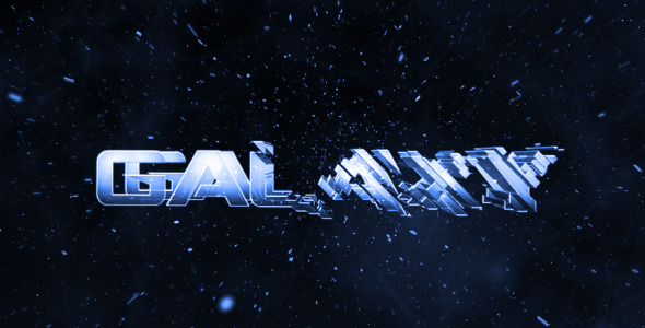 After Effects Project - VideoHive Galaxy Intro Glass Logo Reveal 1848940