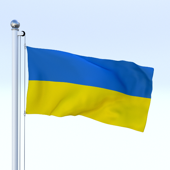 Animated Ukraine Flag - 3DOcean Item for Sale