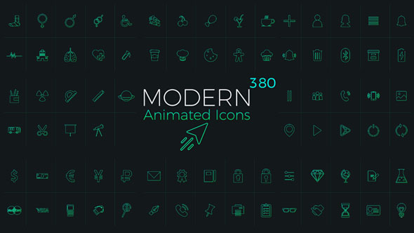 Download Modern Animated Icons Library nulled download