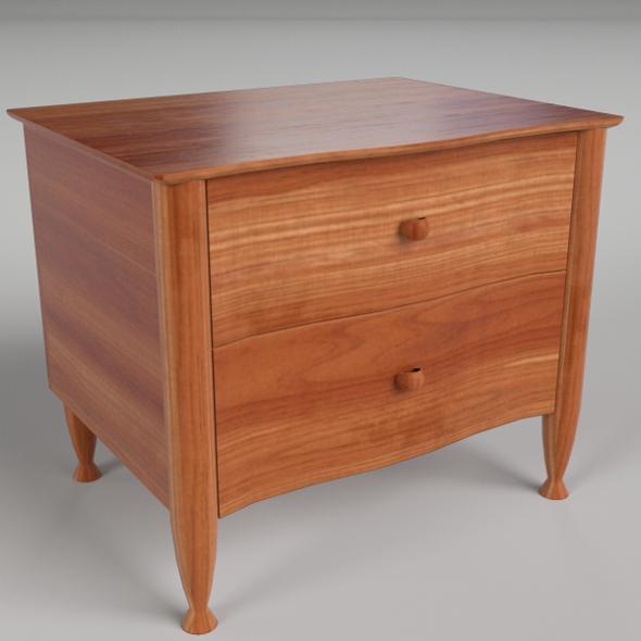 Bedside Table 4 - 3DOcean Item for Sale