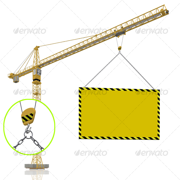 GraphicRiver crane with blank banner 71968