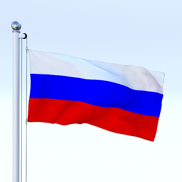 Animated Russia Flag - 3DOcean Item for Sale