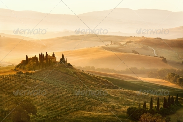 Belvedere of Tuscany - Stock Photo - Images