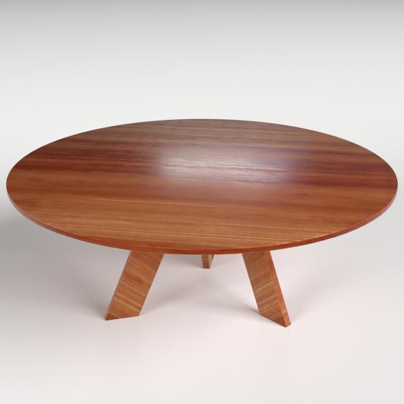 Circular Side Table 2 - 3DOcean Item for Sale