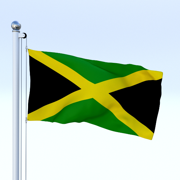 3DOcean Animated Jamaica Flag 18797884
