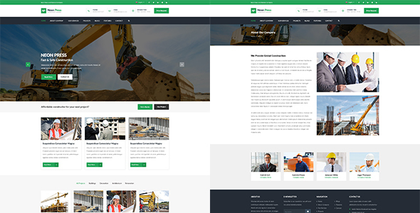 Neon-Press - Construction Business HTML template