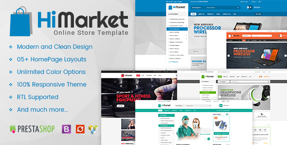 HiMarket – Multipurpose Responsive Prestashop Mega Shop Theme (Shopping)
