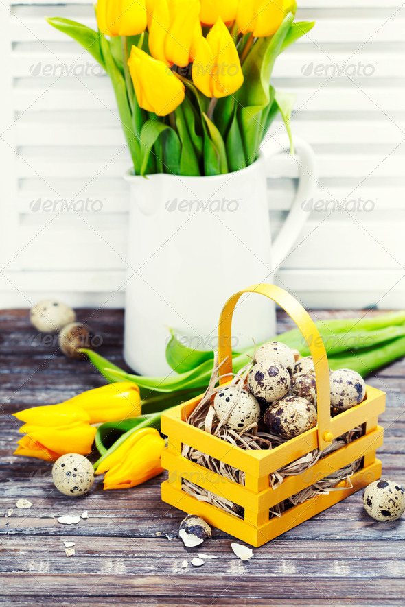 easter composition - Stock Photo - Images