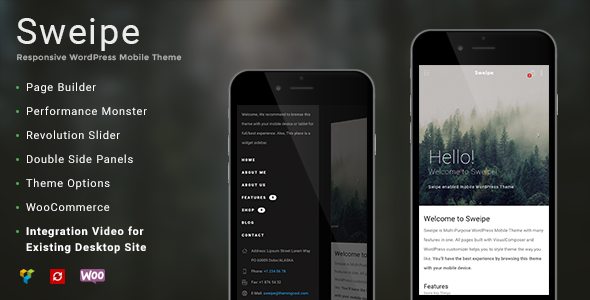 Sweipe - Responsive WordPress Mobile Theme