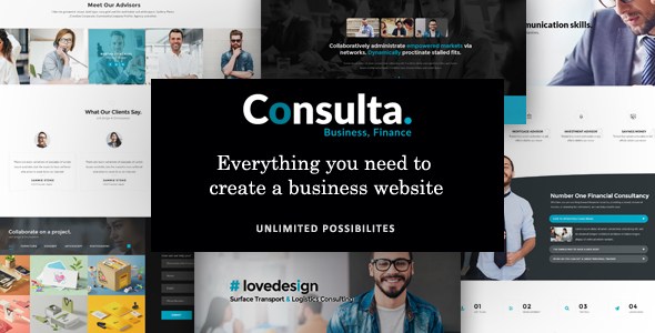 Download Consulta - Professional Business & Financial WordPress Theme nulled download