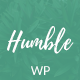 Humble - Modern Personal WordPress Blog Theme