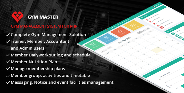 Download Gym Master - Gym Management System nulled download