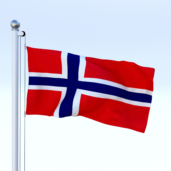 Animated Norway Flag - 3DOcean Item for Sale