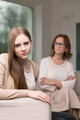Teenage girl having a conflict with her mother