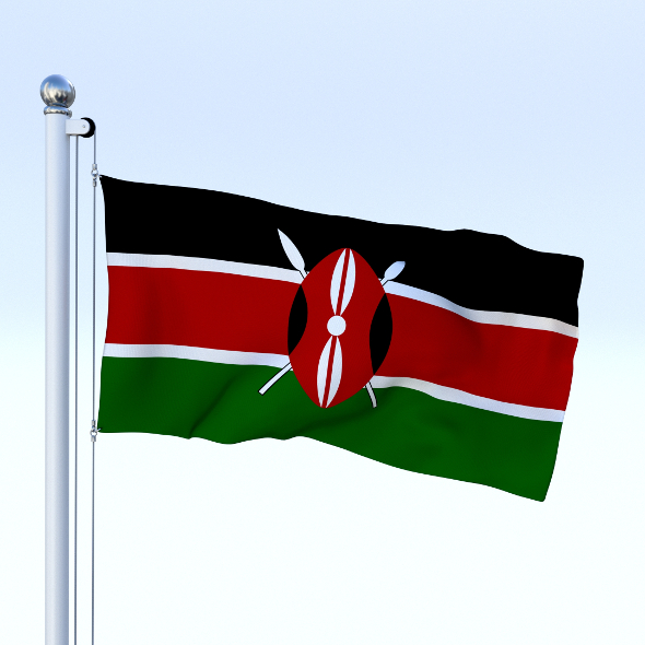 Animated Kenya Flag - 3DOcean Item for Sale
