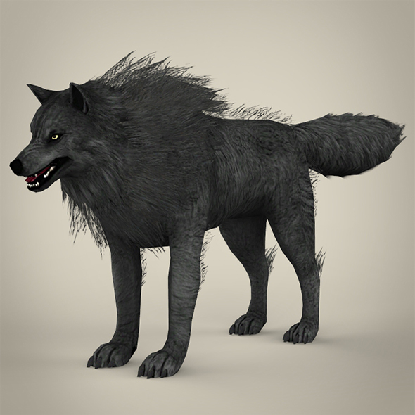 Black Wolf - 3DOcean Item for Sale