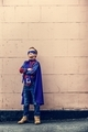 Superhero Little Boy Imagination Freedom Happiness Concept