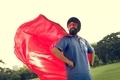 Indian Man Superhero Power Concept