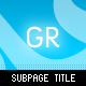 Subpage Title - GraphicRiver Item for Sale