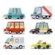 Transport Car Vehicle Icon Design Stylish Retro