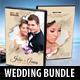 4 in 1 Wedding DVD Cover Templates Bundle 03